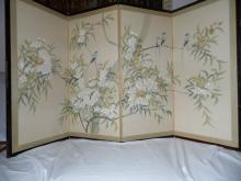 Meiji Period  Four panel screen