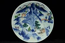 $1 Chinese Dish Wanli Mark Daoguang Period