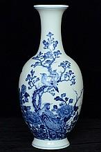 $1 Chinese Blue & White Vase Guangxu Mark 20th C
