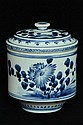 $1 Chinese Blue and White Porcelain Pot 18th C