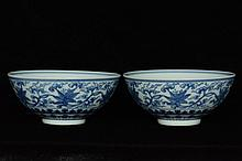 $1 Pair of Chinese Bowls Qianlong Mark and Period