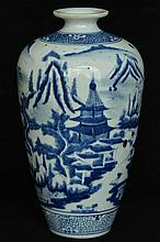 $1 Chinese Blue and White Porcelain Vase 19th C