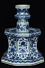 $1 Chinese Ming Candle Holder Xuande Mark &Period