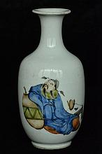 $1 Chinese Famille Rose Vase Figure 20th C