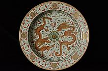 $1 Chinese Dragon Basin Guangxu Mark and Period