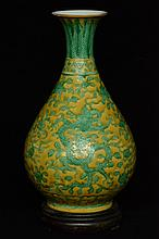 $1 Chinese Ming Dragon Vase Wanli Mark & Period