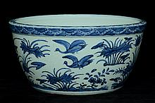 $1 Large Chinese Blue and White Pot 16th C