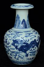 $1 Chinese Dragon Vase Qianlong Mark 20th C