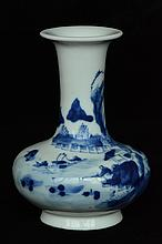 $1 Chinese Blue & White Vase Chenghua Mark 19th C