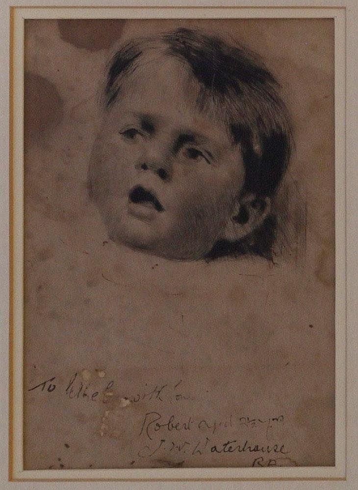 John William Waterhouse (1849-1917)- dry point