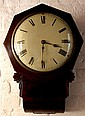 A late Victorian inlaid mahogany cased drop-dial