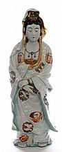 A Chinese porcelain figure of Guanyin, the