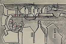 Colin T. Johnson (British, b.1942) - 'Harbour Scen