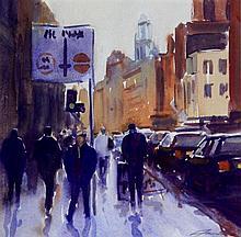 David Farron (b.1972) - 'Manchester Street Scene'