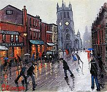 James Downie (British, 20th Century)- 'Rainy Stree