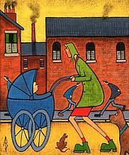Albert Barlow (British, b.1944) - 'Going Shopping'