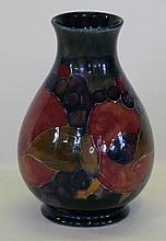 A William Moorcroft pottery vase of baluster form