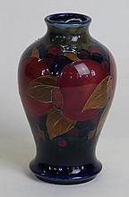 A William Moorcroft vase of inverted baluster form