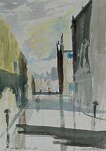 John Thompson (British, 1924-2011) - 'Shadows on a
