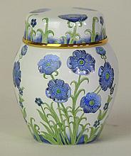 A Moorcroft enamel ware ginger jar and cover Decor