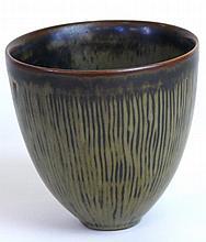 A Royal Copenhagen vase of cylindrical form Design
