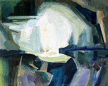 Isobel Barber FRSA (1914-2001) - 'Cave' Oil on can
