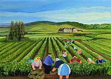 Margaret Loxton (British, b. 1938)- 'French Vineya