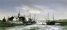 Roland Norman Folland (1932-1999) - 'Harbour Scene