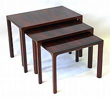 A trio of three excellent quality Danish rosewood