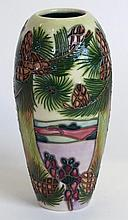 A modern Moorcroft pottery vase of cylindrical for