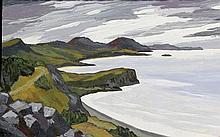 David Barnes (b.1942)- 'Welsh Coastline' Oil on bo