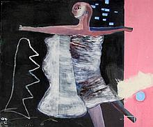 P. S. (03) - 'Contemporary Dancer' Oil on canvas,