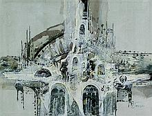 Jan Wenczka (b.1946) - 'Architectural Study' Acryl