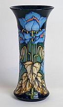 A modern Moorcroft pottery trumpet form vase Decor