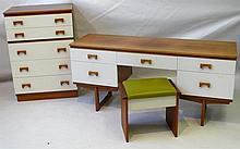 Gordon Warr (20th century) teak veneered bedroom p