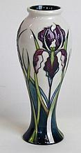 A modern Moorcroft pottery vase of inverted balust