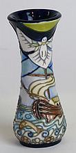 A modern Moorcroft pottery vase of waisted cylindr