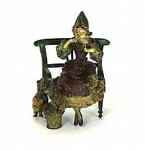 A cold painted bronze group, probably Austrian, circa 1900 Modelled as a yo