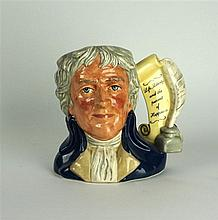 A Royal Doulton large size character jug of 'Thomas Jefferson' Printed fact