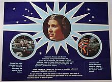 Rare Star Wars original movie poster 'Empire Strikes Back' centre section d