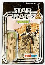 A 1970's Palitoy Star Wars figure in original pack 'Sand People' in good bu