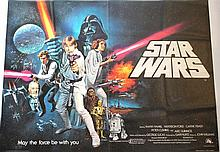 Star Wars Part IV original movie poster 'A New Hope' without academy awards