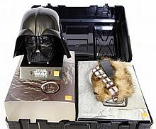 A Star Wars related item Comprising a plastic case containing an empty Noki
