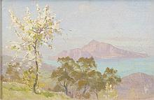 Thomas Frederick Mason Sheard, ''Capri, 1906'' oil on panel 15x24cms