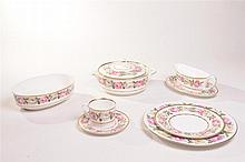 A Royal Worcester ''Royal Garden'' dinner service Comprising 13 27cms plate