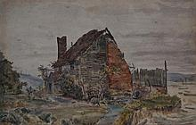 Attributed to Thomas Matthews Rooke ARWS RWS (1842-1942)- 'Old House near R