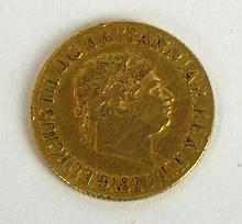 A George III gold sovereign dated 1820