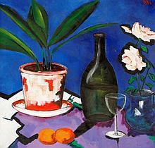 David Gordon Hughes (Irish, b.1957) - 'Still life with objects on the table