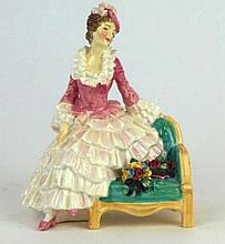 A Royal Doulton figure 'Sonia', HN1692, green printed factory mark, 16cm hi