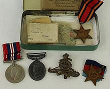 A George VI Territorial Efficiency medal awarded to 866343 gunner F Taylor